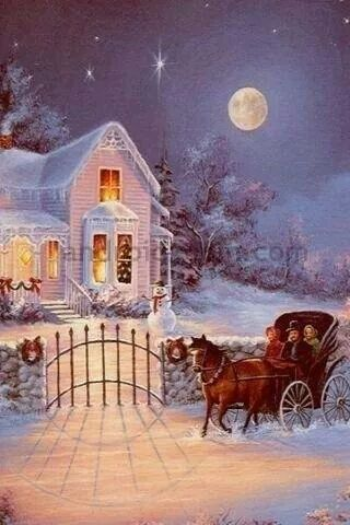 Just keep those sleigh bells ringlin', jing, ting, tinglin' too...  Sleigh Ride in the moonlight
