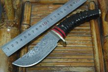 Damascus Steel hunting knife fixed blade outdoor camping knife with Wild cavel handle straight knife survived //Price: $US $62.04 & FREE Shipping //   #watches #bracelets #rings #shirts #earrings #dress