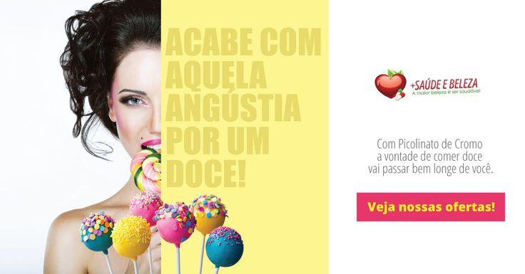 Não passe vontade de comer doce!  Com Picolinato de Cromo a vontade de comer doce vai passar bem longe de você, veja nossas #SuperOfertas.  http://www.maissaudeebeleza.com.br/p/375/picolinato-de-cromo-280mg-c120-capsulas?utm_source=google+&utm_medium=link&utm_campaign=Picolinato+de+Cromo&utm_content=post