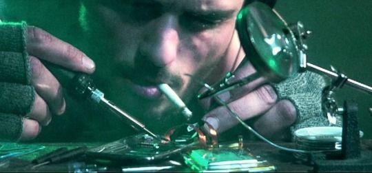 moment from the upcoming cyberpunk short film📱Off_Grid  #StoopidGenius #cyberpunk #hacker #shortfilm #computers #cigarette #electronics #future #cinematography #cyberpunkart #scifiart #sciencefiction #techart #offgridfilm