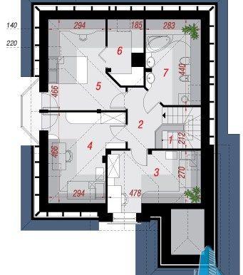 Proiect de casa cu parter, mansarda si garaj pentru un automobil-100658 - Chisinau http://www.proiectari.md/property/proiect-de-casa-cu-parter-mansarda-si-garaj-pentru-un-automobil-100658/