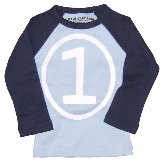 Kids CIRCLE First Birthday Raglan T-shirt