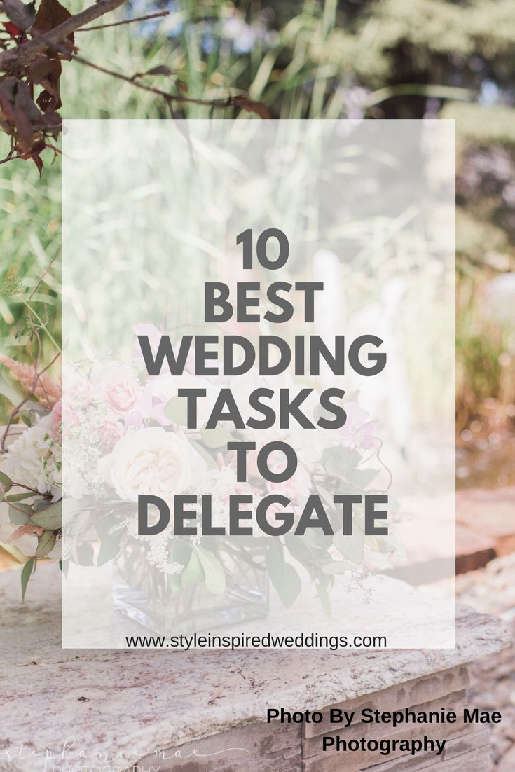 I can almost guarantee during your wedding planning process that you've had lots of family and friends offer a helping hand. The awesome thing is there are a ton of wedding day tasks they can do. So here is a list of 10 wedding tasks to delegate.