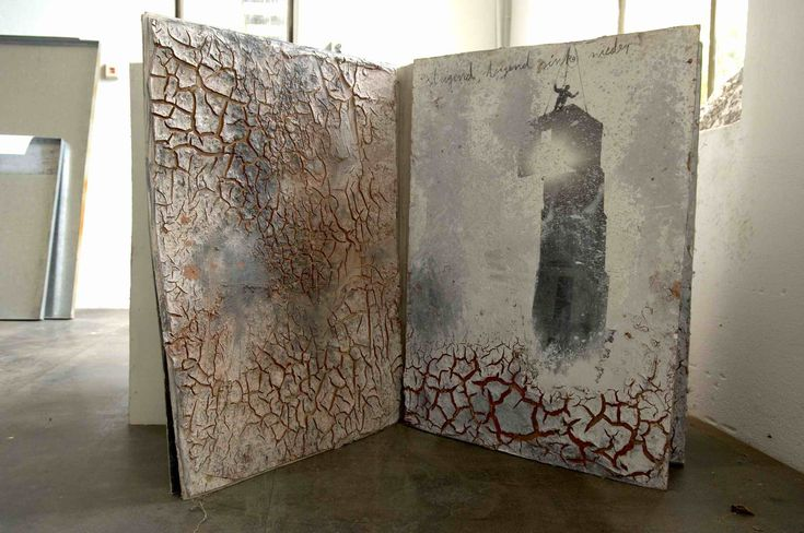 """The book, the idea of a book or the image of a book, is a symbol of learning, of transmitting knowledge.. I make my own books to find my way through the old stories."" Anselm Kiefer"