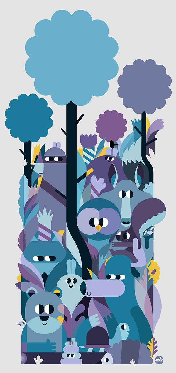 The Woods on Behance
