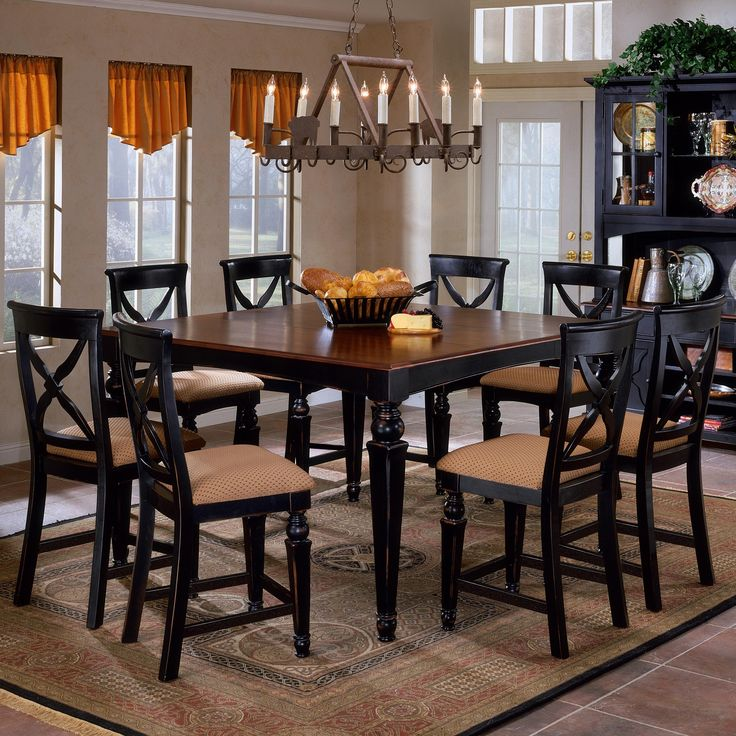 This Would Be Great When Hosting The Monthly Girls Dinner Hillsdale Northern Heights Counter Height Dining Table In Black Cherry Traditional Furniture