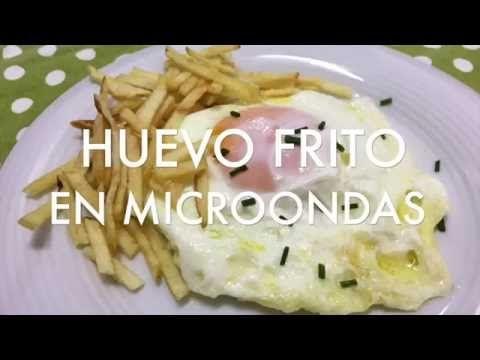 Huevo frito en el microondas al minuto - Divina Cocina