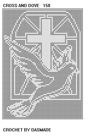 CROSS with DOVE FILET CROCHET PATTERN AFGHAN by dasmade on Etsy
