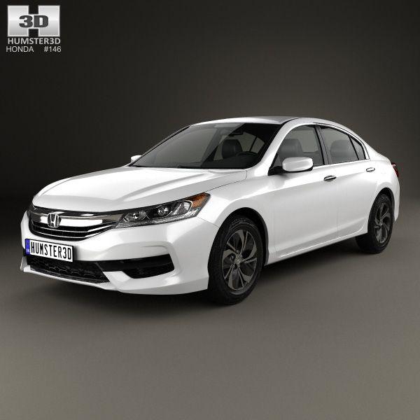 Honda Accord LX 2016 3d model from Humster3d.com