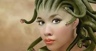 Beautiful snake lady Medusa