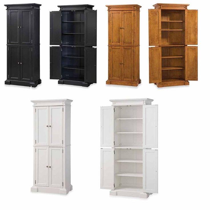 Pantry Storage Cabinet Kitchen Cupboard Wood Organizer Furniture Tall Shelf New #Modern