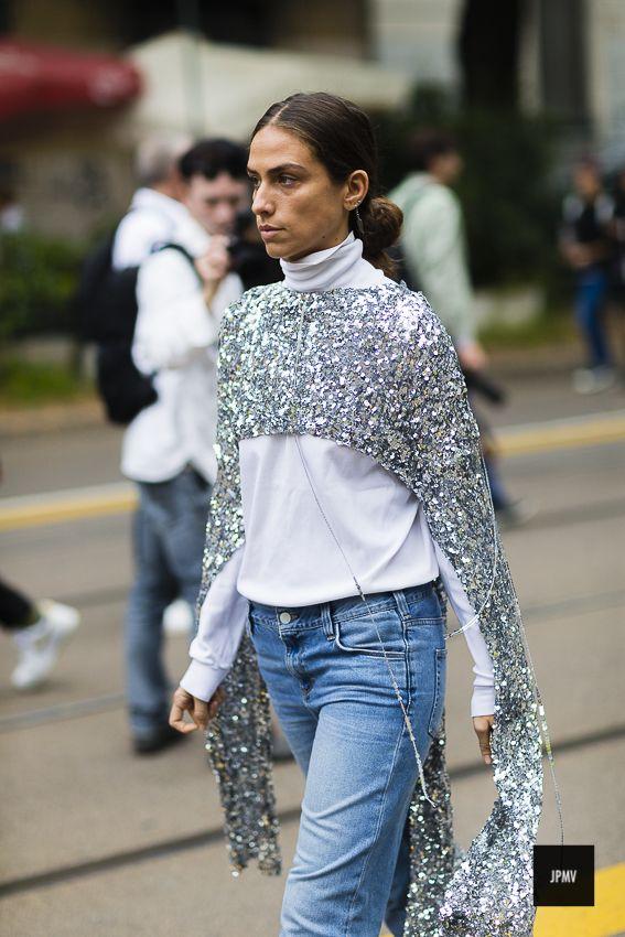 Erika Boldrin during Milan Fashion Week SPring Summer 2017