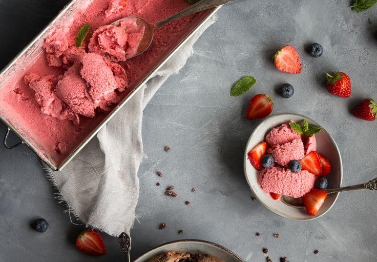 Jahodový frozen jogurt