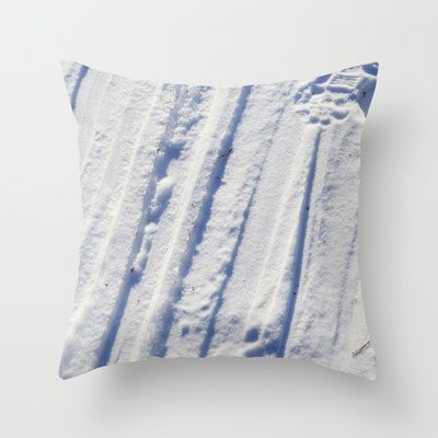 """Throw Pillow / Indoor Cover (16"""" X 16"""") • 'Snøspor' • IN STOCK • $20.00 • Go to the store by clicking the item."""
