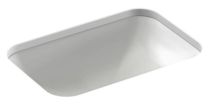 Vasque rectangulaire à encastrer par-dessous 56 x 39,5 cm, avec trou de trop-plein Jacob Delafon