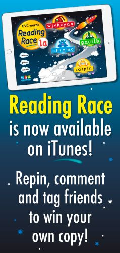 Our new Reading Race app is available on iTunes!