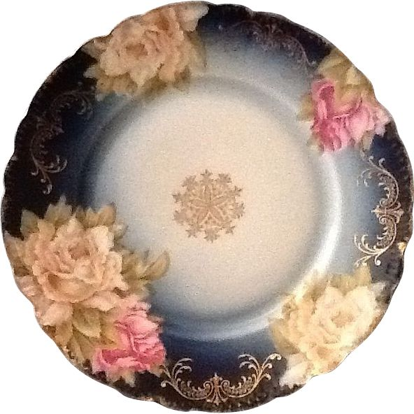 Very Vintage Pretty Porcelain  Pieces,  Antique Philip Rosenthal Malmaison Bavaria Plate.