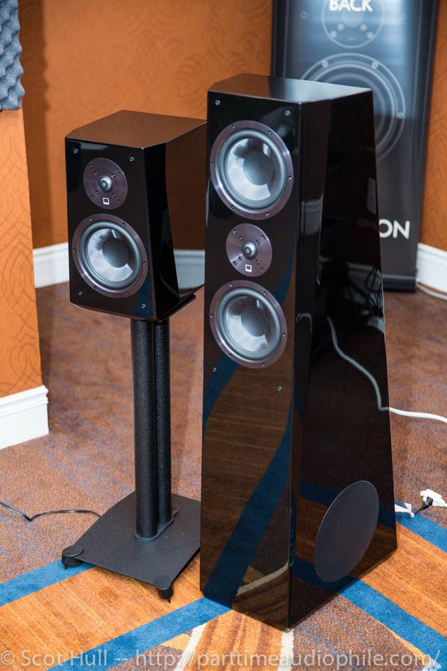 SVS Ultra Tower And Bookshelf Speaker Side By At Capital Audiofest