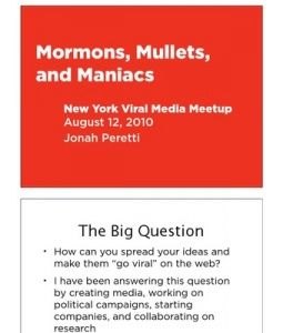 Jonah Peretti Viral Meetup Talk
