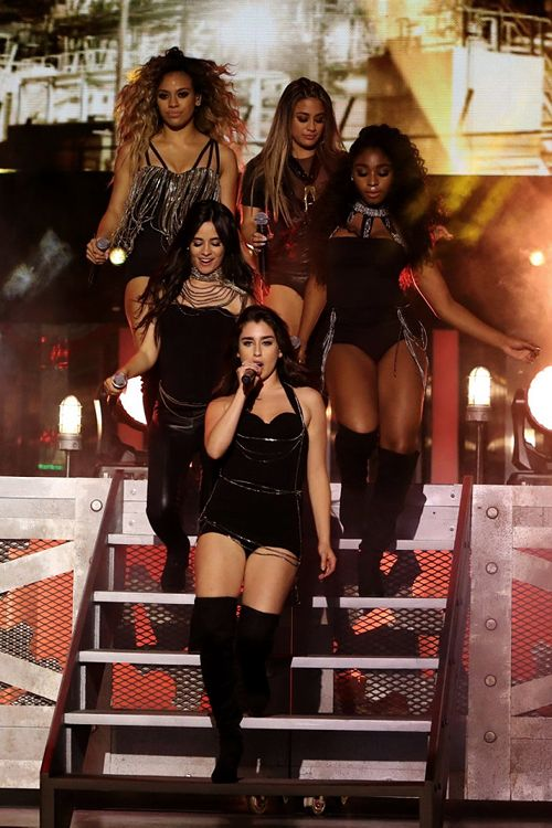 top row L to R: dinah, ally, normani. middle: camila. bottom: lauren