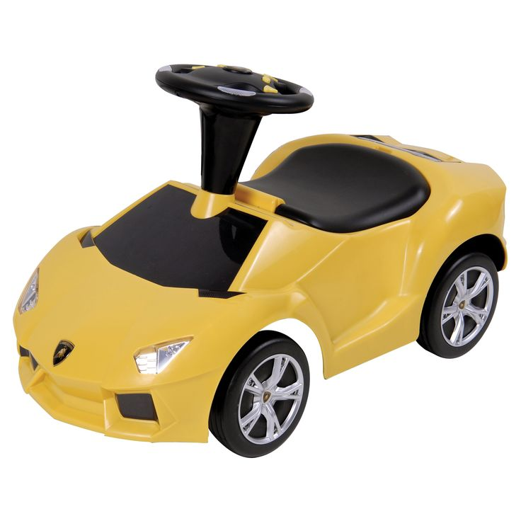 Ride-Ons Lamborghini Aventador with Sound Riding Push Toy - Yellow - 96853