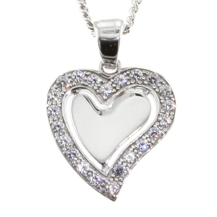 Buy our Australian made 9ct White Gold Heart Pendant - PDS-056 online. Explore our range of custom made chain jewellery, rings, pendants, earrings and charms.