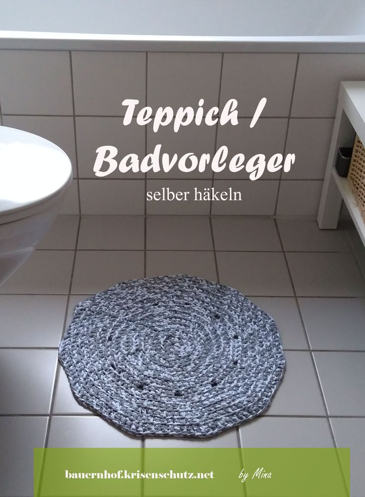 #Badvorleger #Teppich Fürs Bad Selber #häkeln Aus #Textilgarn
