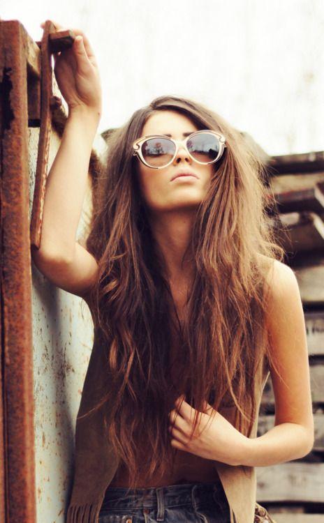 : Shades, Hair Colors, Hairstyles, Long Hair, Makeup, Locks, Longhair, Hair Style, Sunglasses