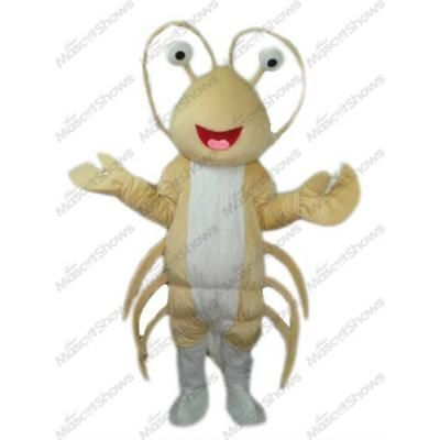 Costume de Mascotte de homard langoustine jaune cl...