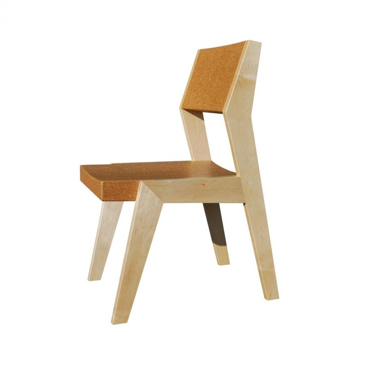 Simple Cork Material Furniture Design With Single Elegant Chair With Cork  Material Bolster Seat And Wooden