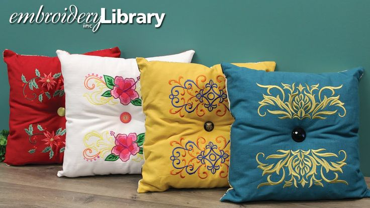 Embroidery Library Videos: Embroidered Tufted Pillow