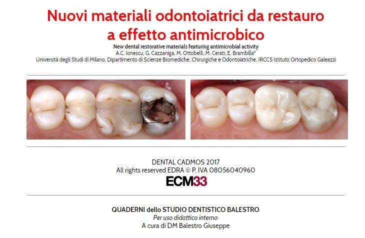 Nuovi materiali in Odontoiatria Test di valutazione   01 http://www.studiodentisticobalestro.com/2017/06/nuovi-materiali-odontoiatrici.html