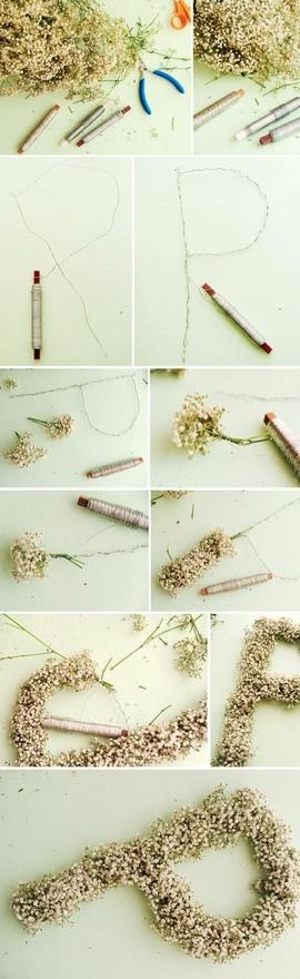 DIY Flower lettering Wedding Decorations