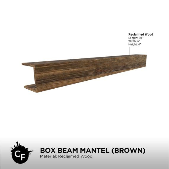 Box Beam Mantel Brown Etsy Beams Wood Mantels Mantel