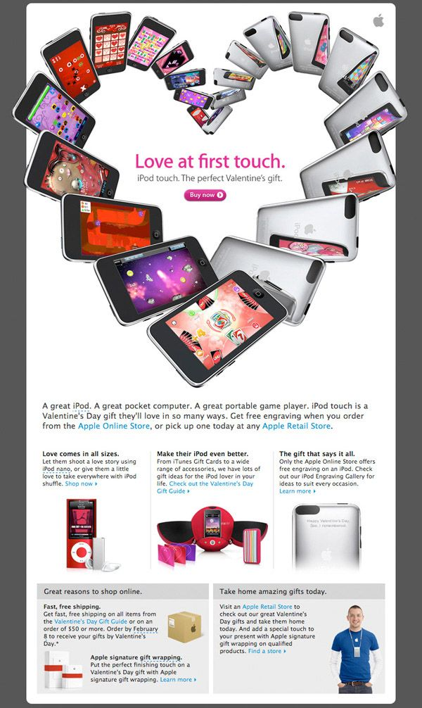 Inspiring Valentine's Email Marketing Campaign from Apple
