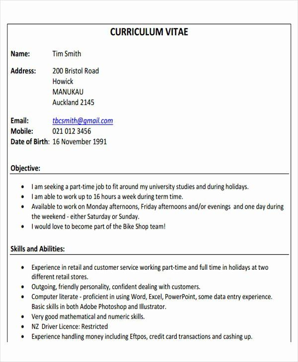40 First Time Job Resume In 2020 Job Resume Job Resume Template