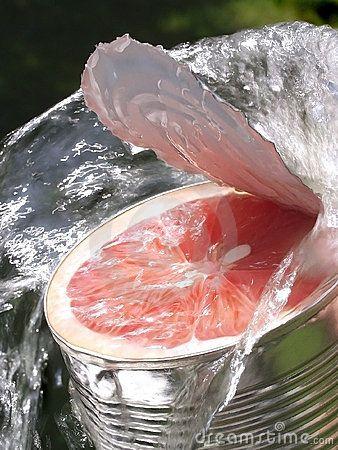 http://www.dreamstime.com/royalty-free-stock-image-grapefruit-tin-waterstream-image15371246