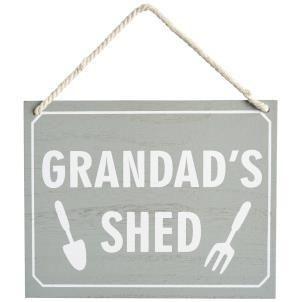 Grandad's Shed sign