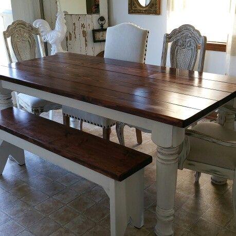 6x3 Farmhouse Table W Bench Farmhousetable