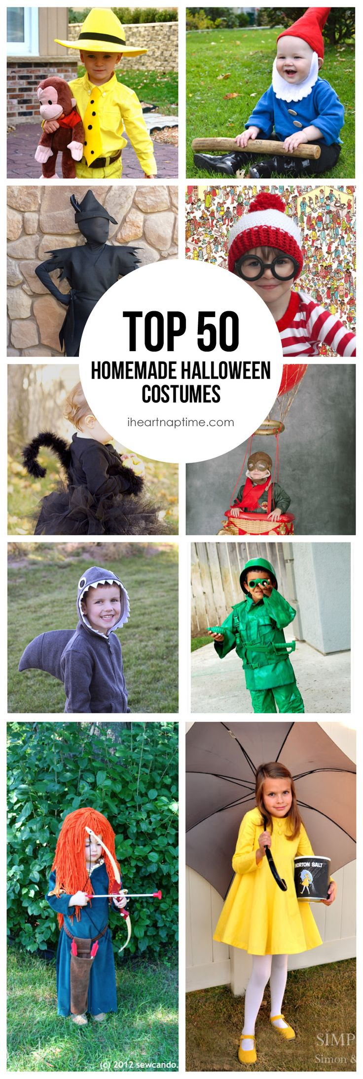 Top 50 Homemade Costumes! Great ideas for Halloween.