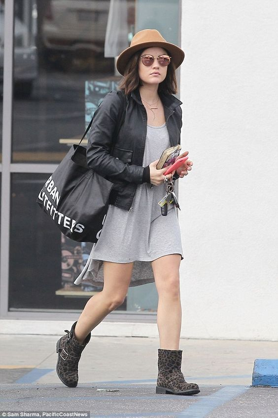 Lucy Hale headed to Urban Outfitters in Los Angeles, California,
