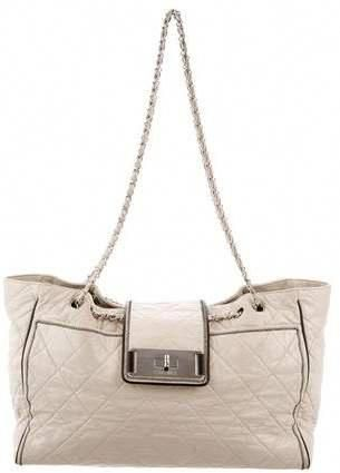 d6dc3e257e8a46 Beige quilted leather CHANEL Large East/West tote with silver-tone hardware  #bags #shoulderbag #totebag #style #bolsos #chanel #affiliate #shopstyle ...