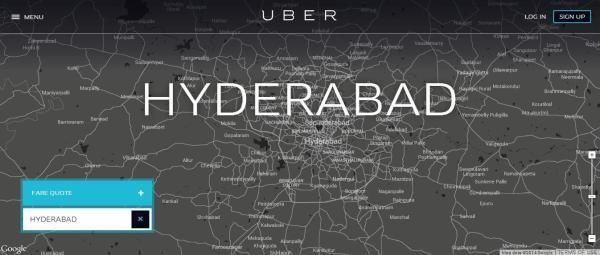 uber cab booking hyderabad