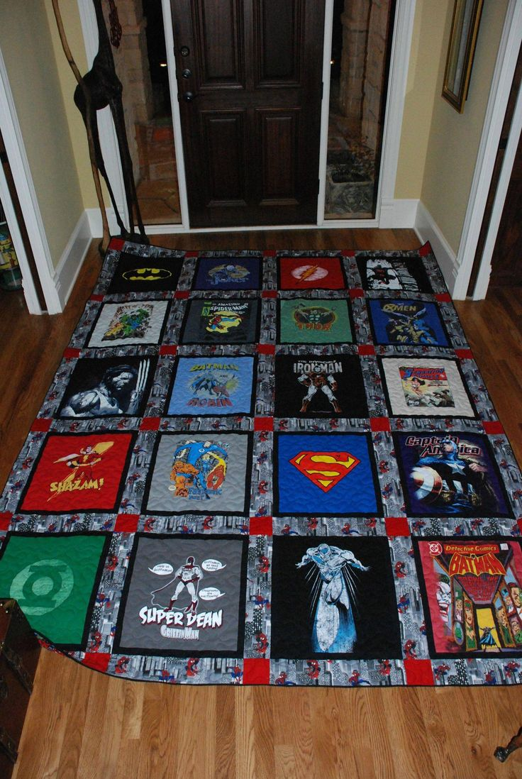Must do from my sons old tshirts but I think yours have more superhero shirts than mine so far, lol