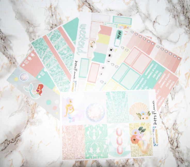 Happy Planner- Mermaid - Weekly Kit of Planner Stickers by jpstickersbyjill on Etsy https://www.etsy.com/ca/listing/520312813/happy-planner-mermaid-weekly-kit-of