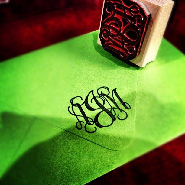 Monogram stamp-- gift idea