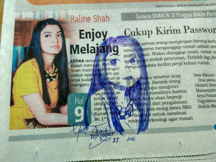 Sketch on Newspaper