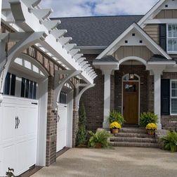 Top 25 ideas about garage door trellis or arbors on for Eyebrow pergola plans