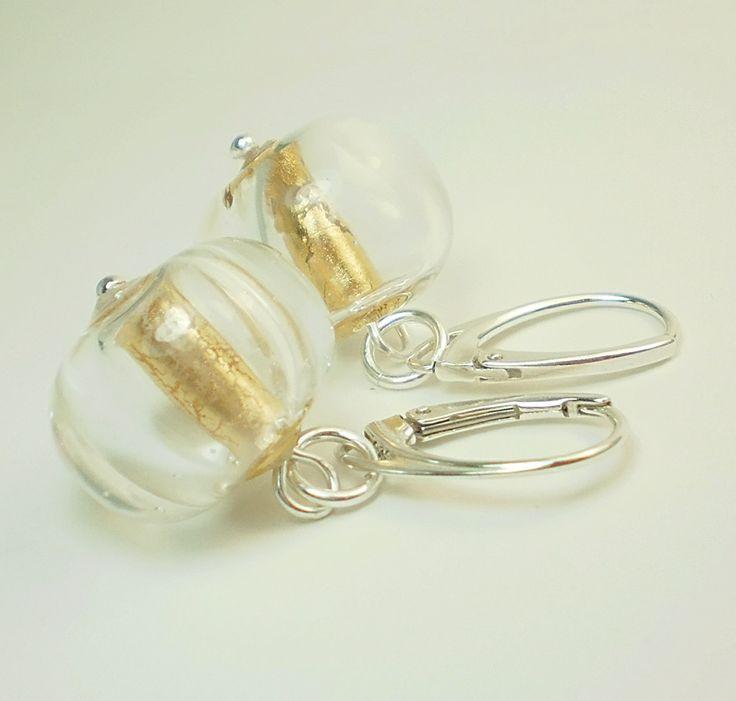 Naušnice z ručně vinutých perel jibadu , duté