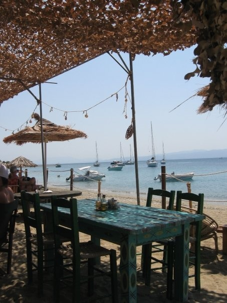 Tavern somewhere on the island of Skiathos, Greece